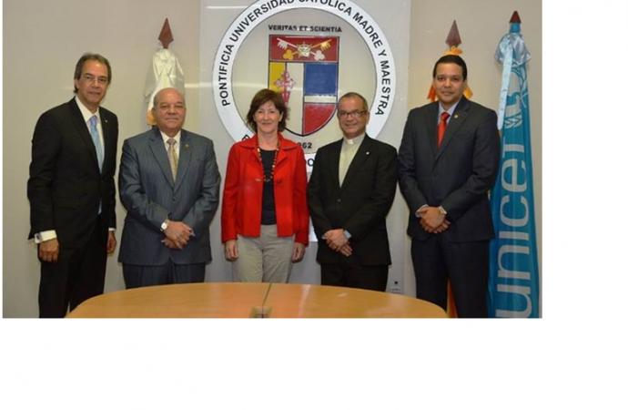 UNICEF, PUCMM y la Fundación Popular firman acuerdo de colaboración